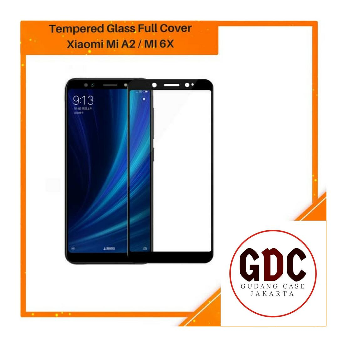 GDC Tempered Glass Xiaomi Mi A2 / Mi 6X Full Cover Full Color - Hitam