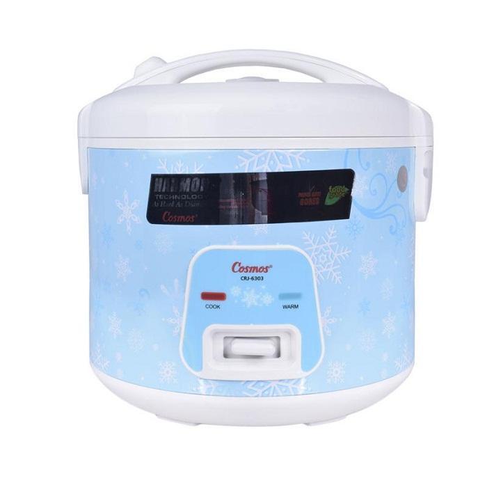 Cosmos CRJ 6303 Rice Cooker - Biru [Harmond Technology/ 1.8 L]