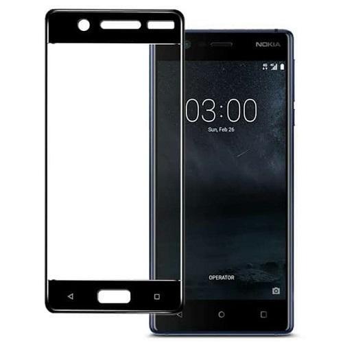 Tempered Glass Warna Anti Gores Kaca Screen Protector Full Cover Layar Nokia 3 Warna Hitam -