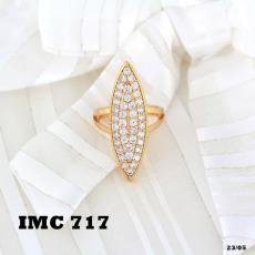 Cincin Single Tameng Runcing Gold [Perhiasan Xuping Lapis Emas]