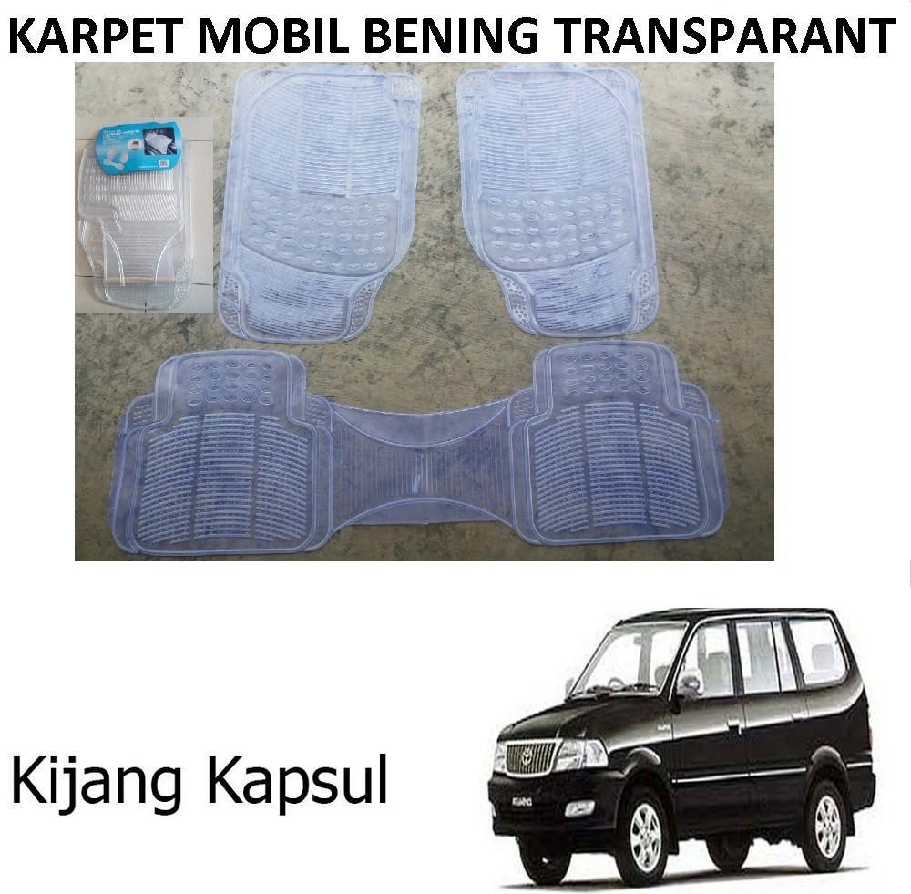 Karpet Mobil Kijang Kapsul / Car Carpet / Floor Mats Universal Warna Bening Transparant