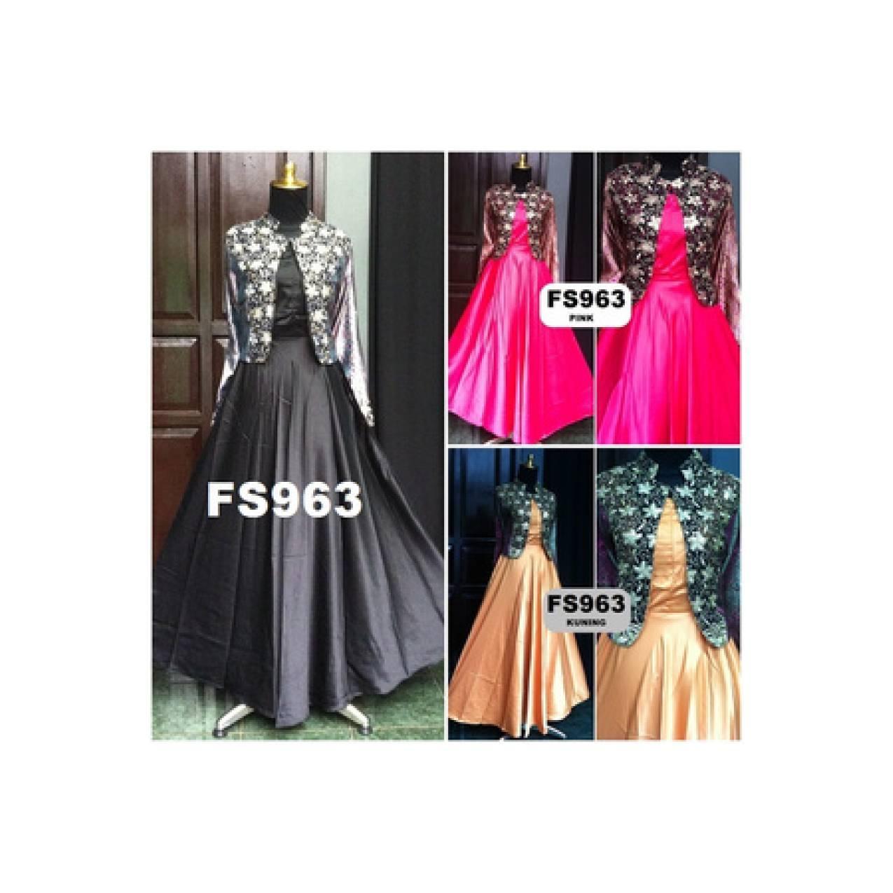 Baju Gamis Pesta Maxi Dress Sari India ,Soket dan Velvet VLKSH963A