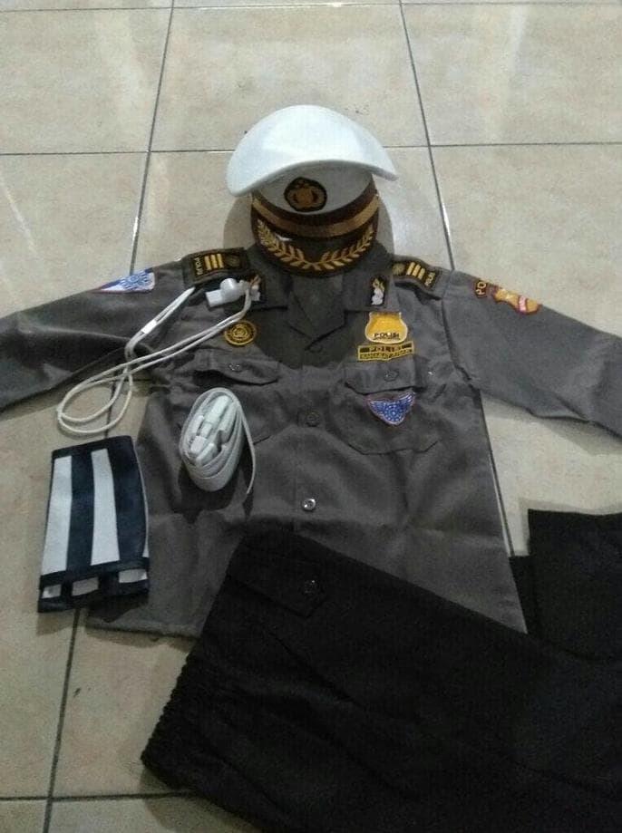 Best Seller!! Seragam Anak Jenderal Polisi Laki Lantas Ukuran 1-4 L Baju Karnaval - ready stock