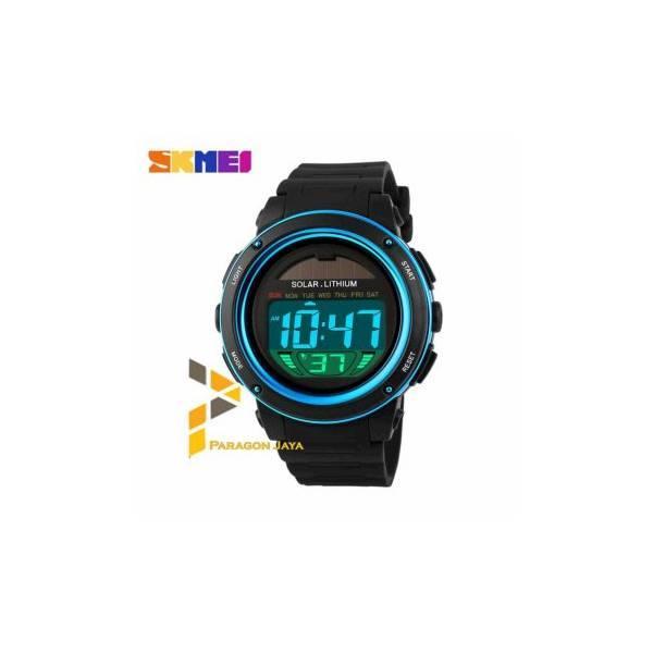 Termurah Jam Tangan Digital LED Tenaga Matahari / Solar Watch SKMEI 1096 Biru hadiah ulang tahun