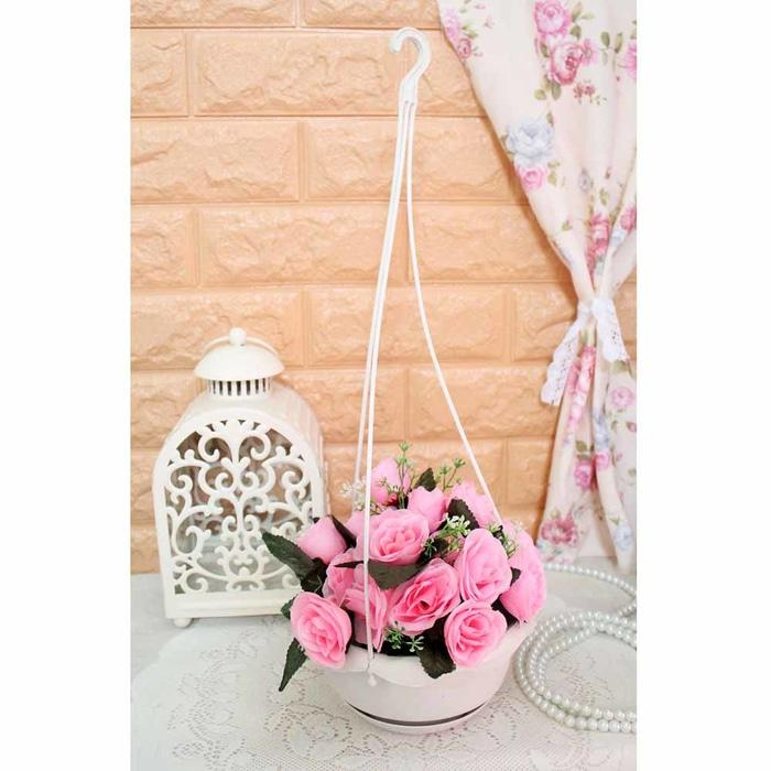 bunga plastik hias artificial artifisial mawar + pot gantung shabby A1 - KuJ0Fq