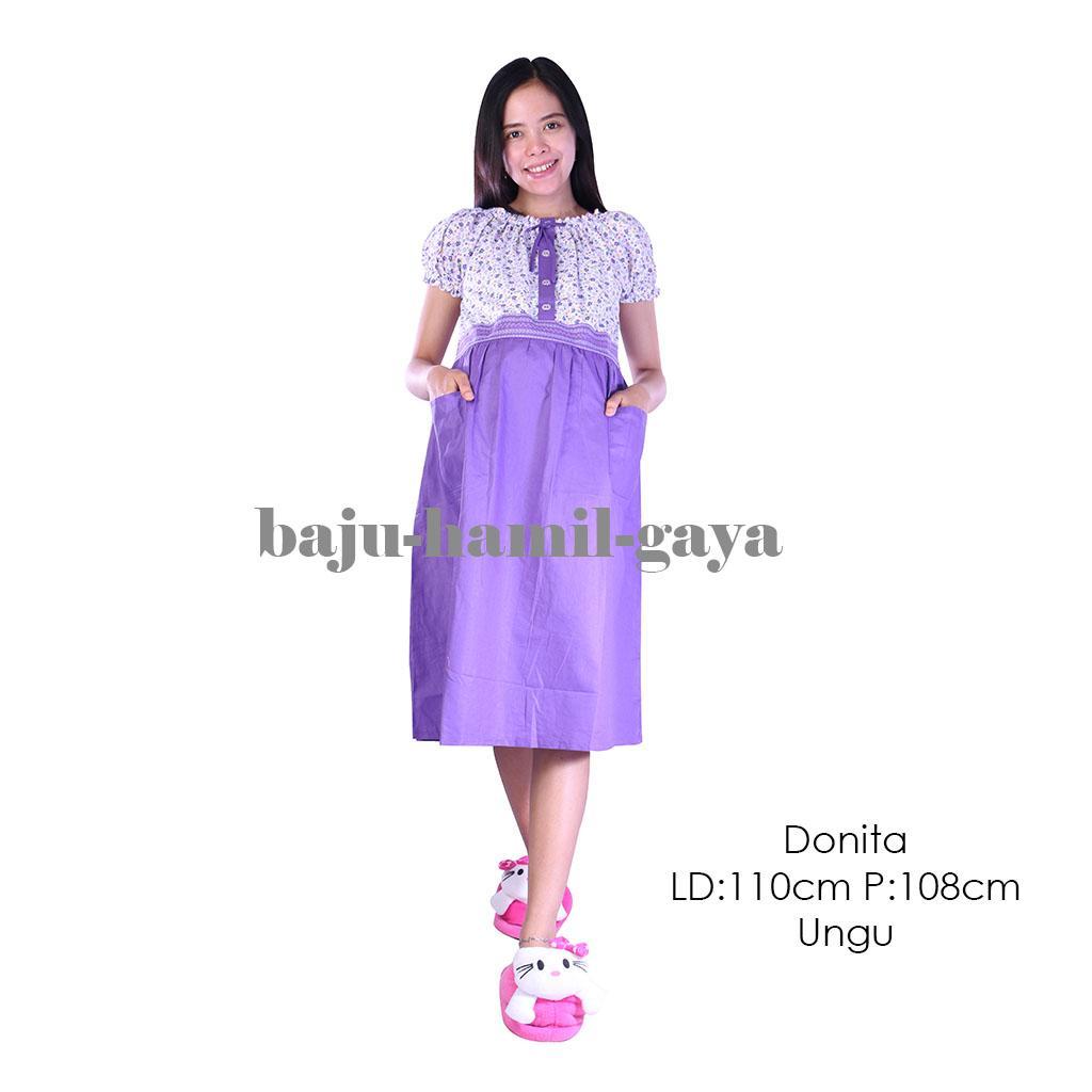 Harga Baju Daster Ibu Hamil Terbaru 2018 Web Menyusui Busui Bumil Jumbo Donita Ungu Terusan Dress Wanita Murah
