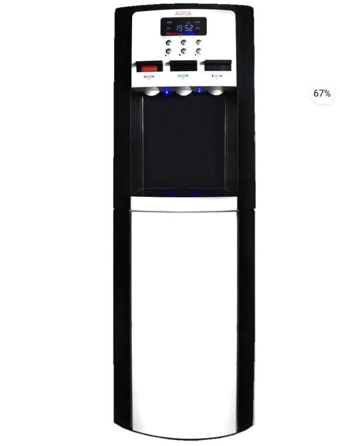 Original Arisa wd-0912T Dispenser Galon atas Stainless Led display Low watt