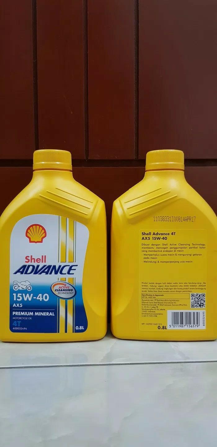 Oli shell ax5 ax 5 o.8 liter