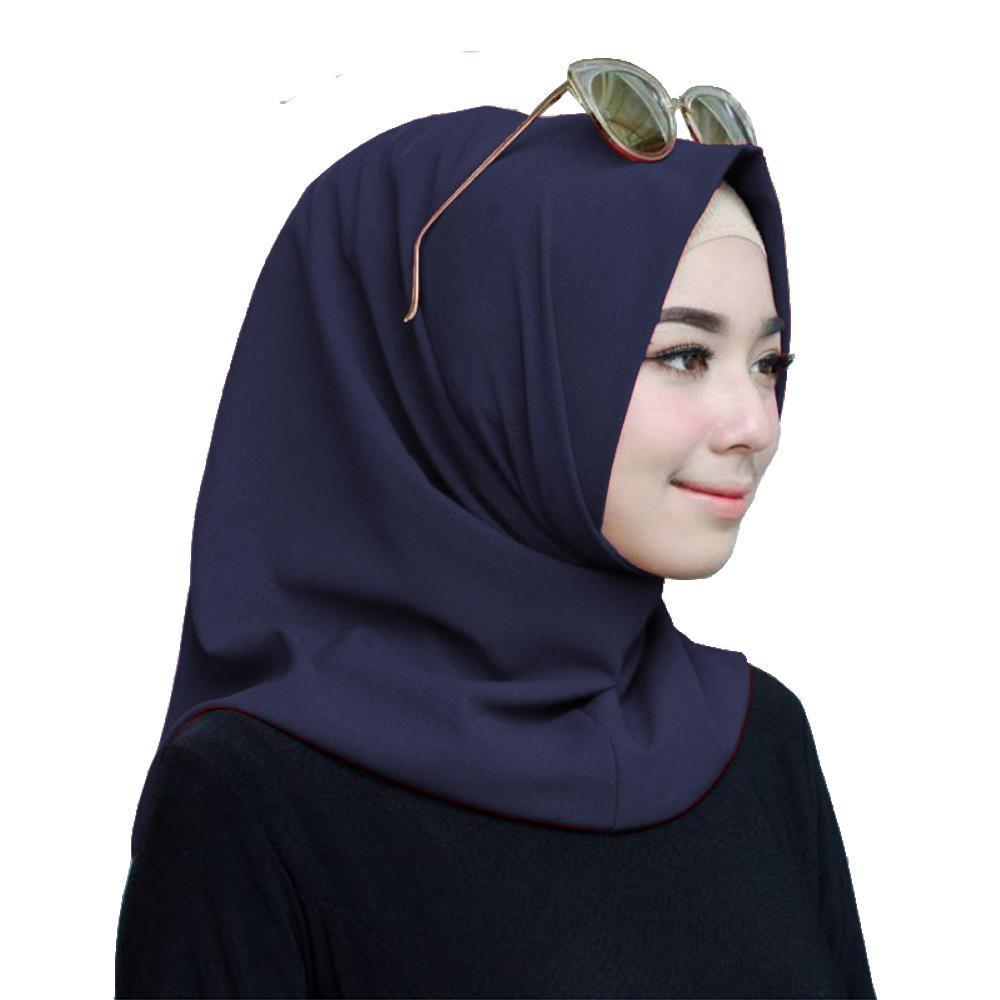 kerudung hijab instan salwa biru navy murah bisa bayar di tempat