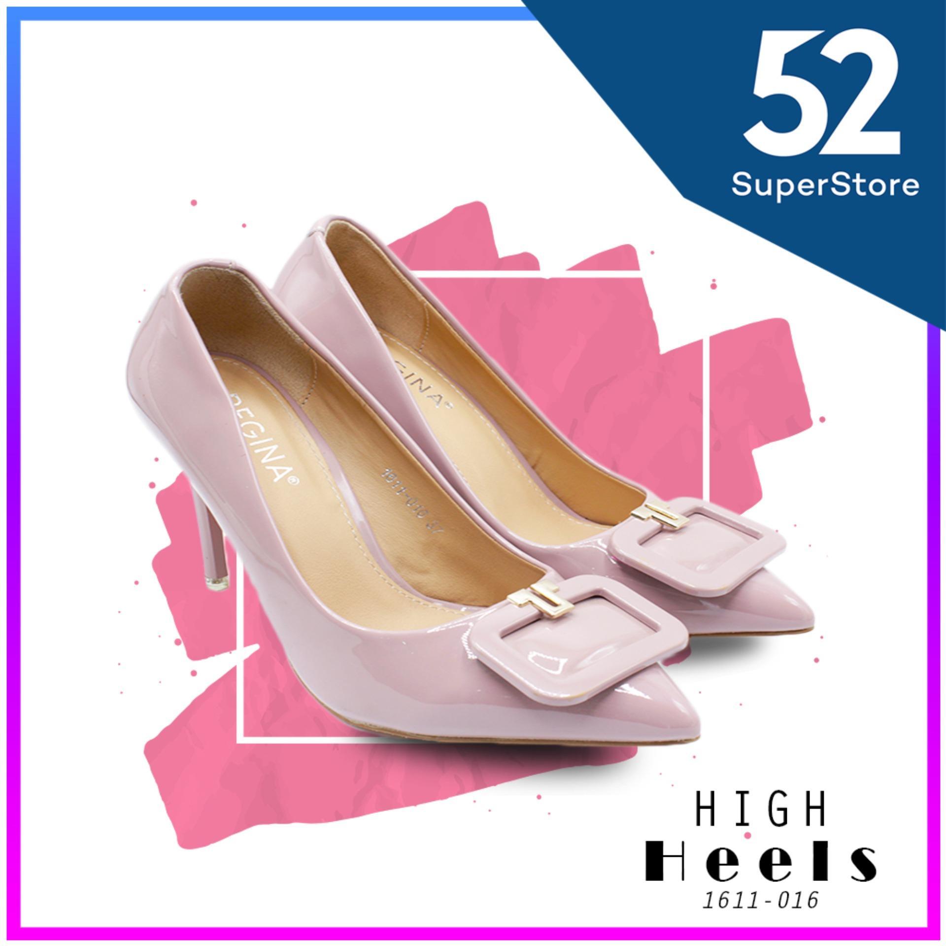 Regina Sepatu Pantofel Wanita 1611 016 Pink Purple HAK 9 cm
