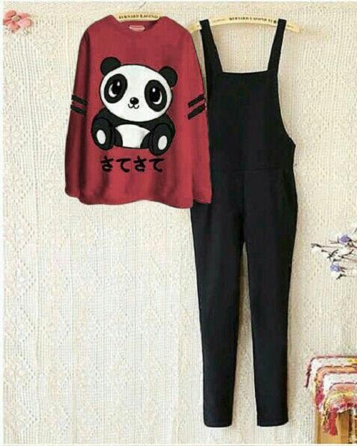 Fashionshop Jumpsuit Panda + Free Inner / Setelan Wanita /Jum panda / Jamsuit Wanita /