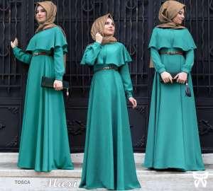 Flavia Store Maxi Dress Lengan Panjang Set 3 in 1 FS0623 - TOSCA / Gamis Syari / Gaun Pesta Muslimah / Baju Muslim Wanita Syar'i / Hijab Jilbab Pashmina / ...