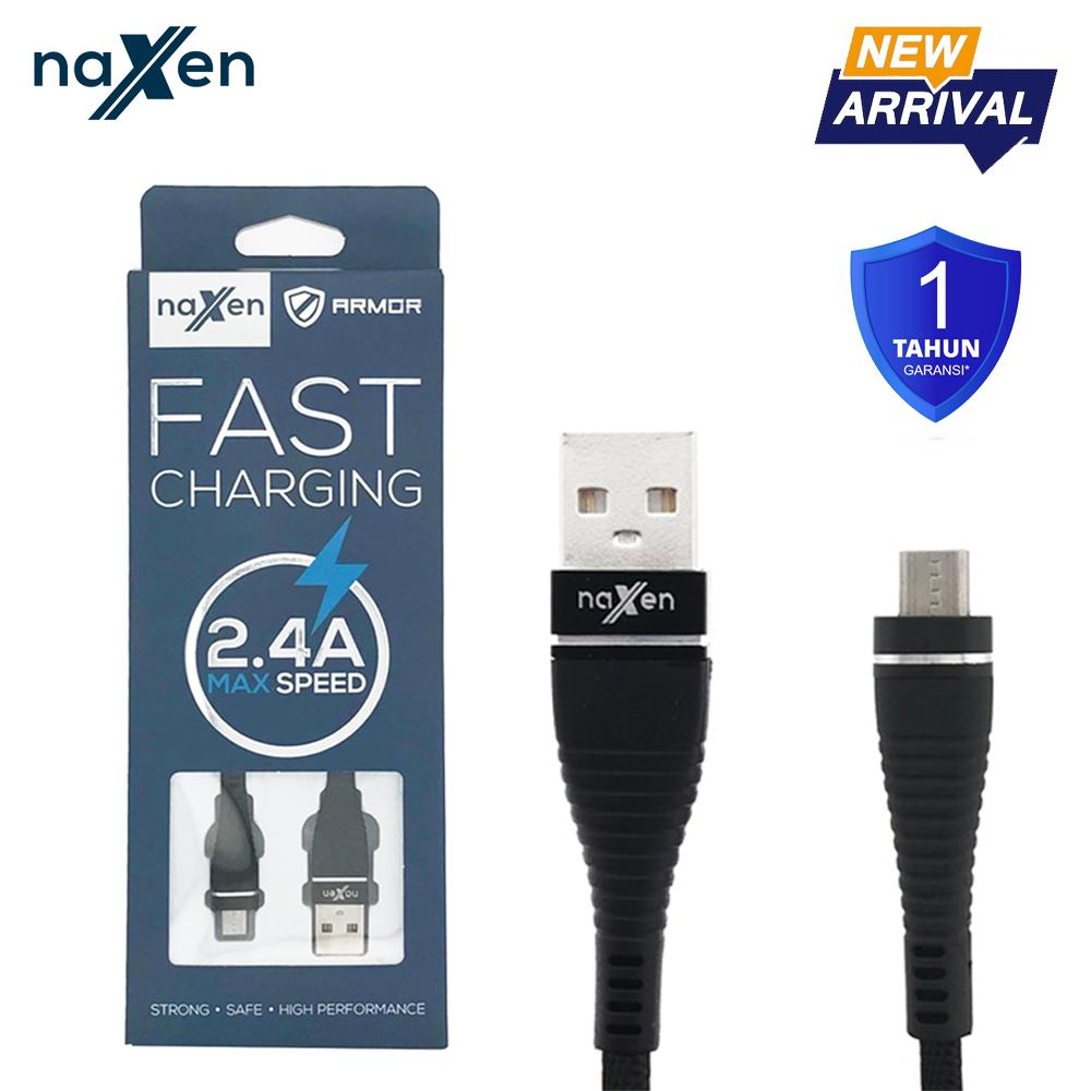 Kabel Charger Spare Part Bolt 21a Fast Charge 3in1 Cable Naxen Data Micro Usb Armor Support Charging 24a For Android Phone Garansi