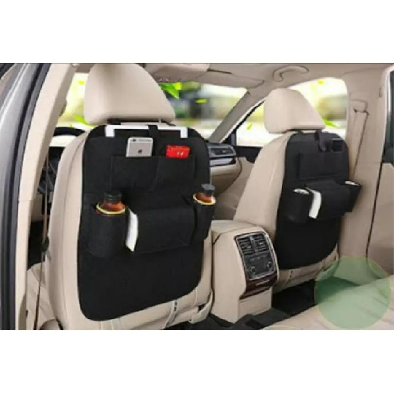 Car Seat Organizer - Tas Mobil Multifungsi Dipasang Dibelakang Jok - Hitam
