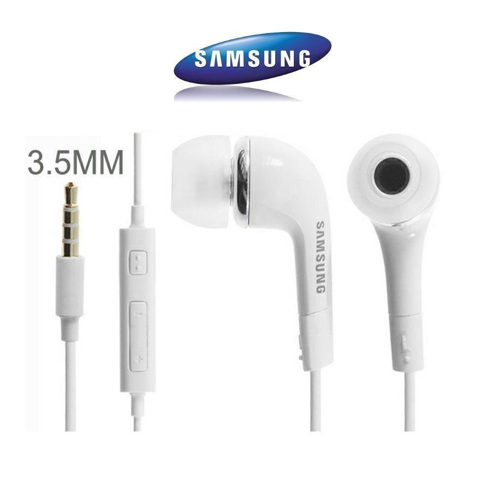 All Item Store- In-Ear J5 Earphone Earbuds Headphone Handsfree Earphones With Mic Volume For SAMSUNG GALAXY S3 S4 S5 Note 3 - Putih