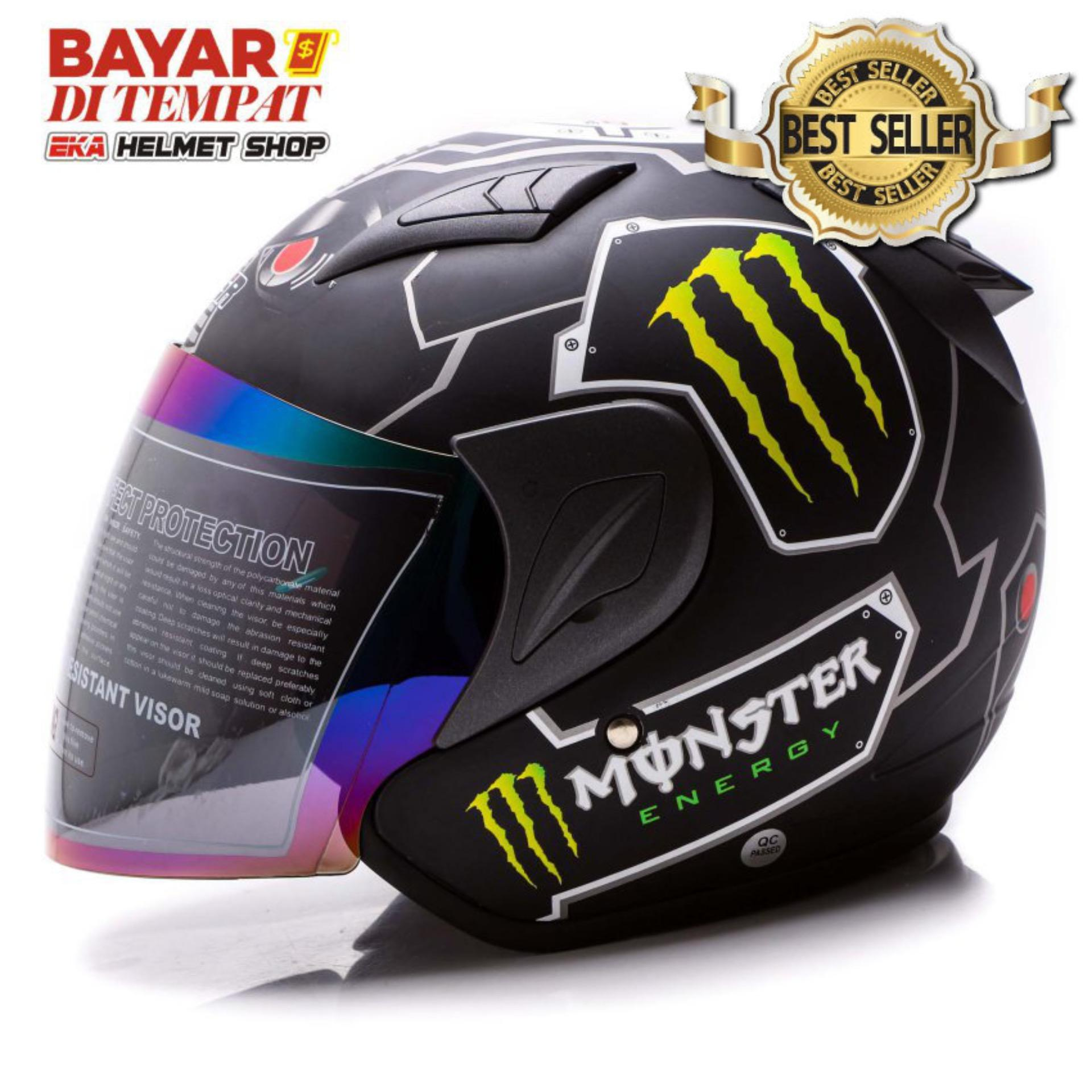 Msr Helmet Javelin - Monster - Hitam Doff By Eka Helmet Shop.