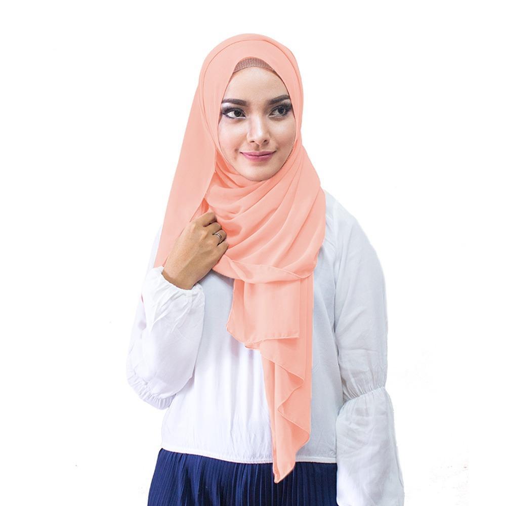 Hijabku Murah Pasmina Ceruti Kerudung Modis - [Warna Peach]