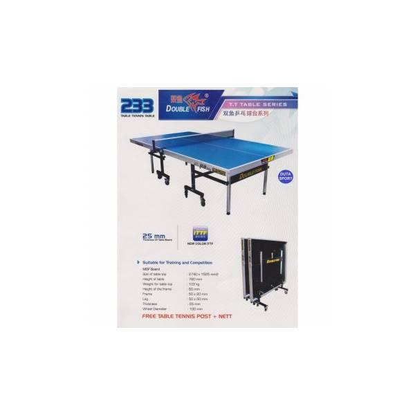 Meja Pingpong Tenis Meja Double Fish 233 Import