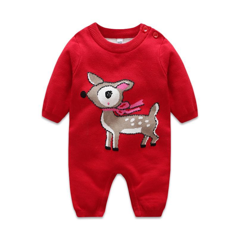 Baju Terusan Rajutan Hangat Pria dan Wanita Jumpsuit Bayi