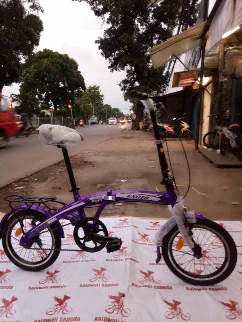 Sepeda anak 16 lipat exotic 2625 ,tanpa gigi boncengan pedalnya lipat