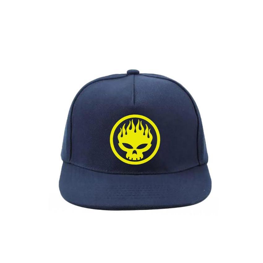 Jakarta Distro Topi Snapback Skull Yellow Nevy Premium