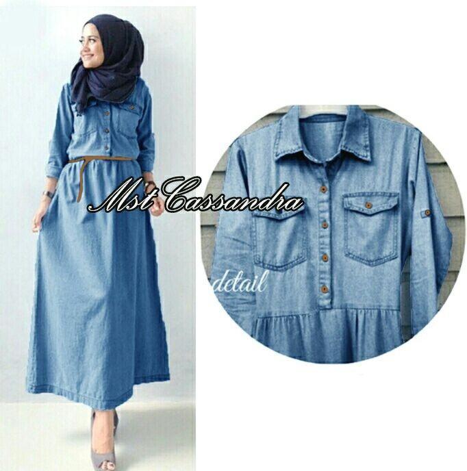 Maxi jeans wash wanita - CASANDRA long dress