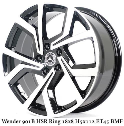 velg mobil hsr WENDER 901B HSR R18X8 H5X112 ET45 BMF