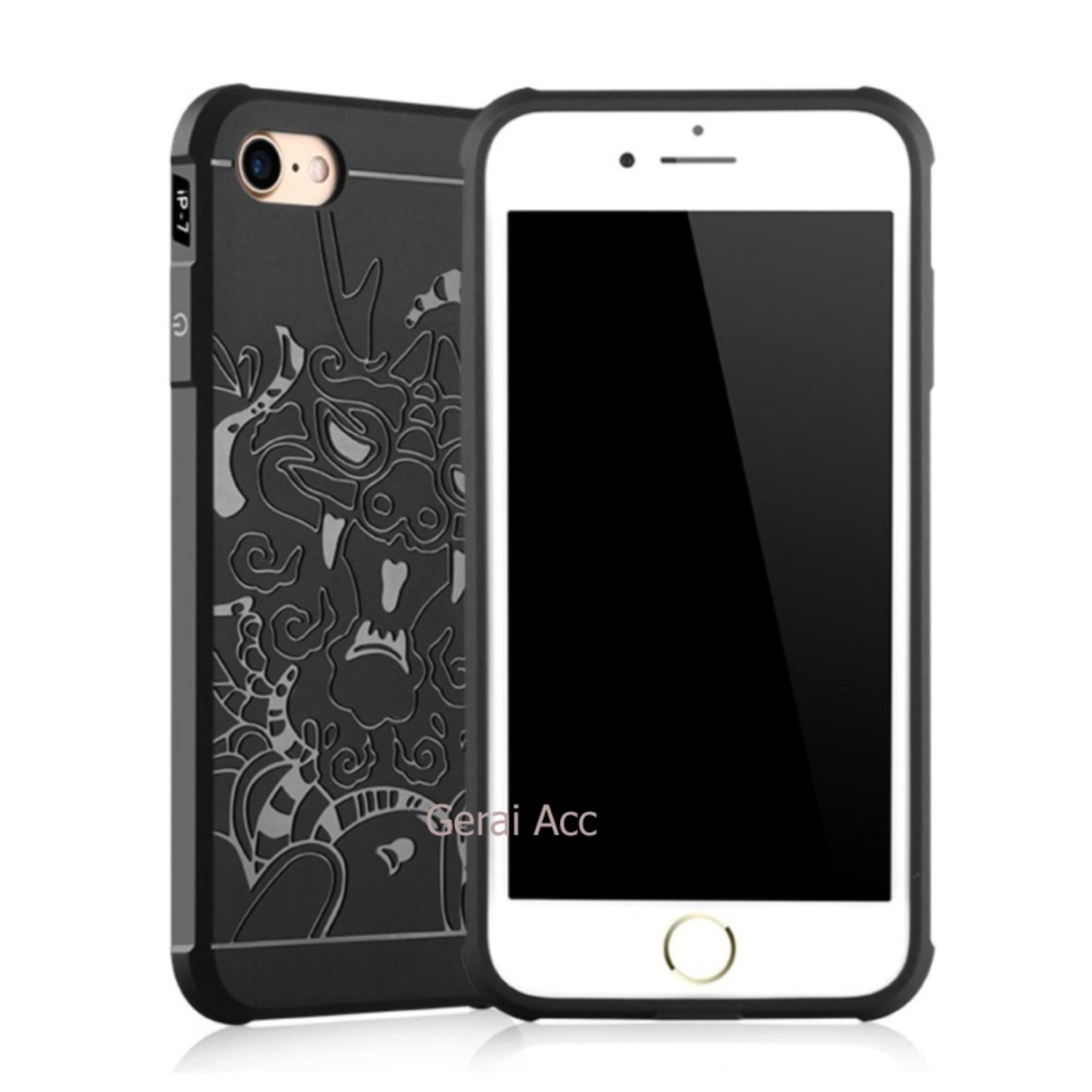 Back Cover Dragon Shockproof Hybrid Case for iPhone 7 - Hitam