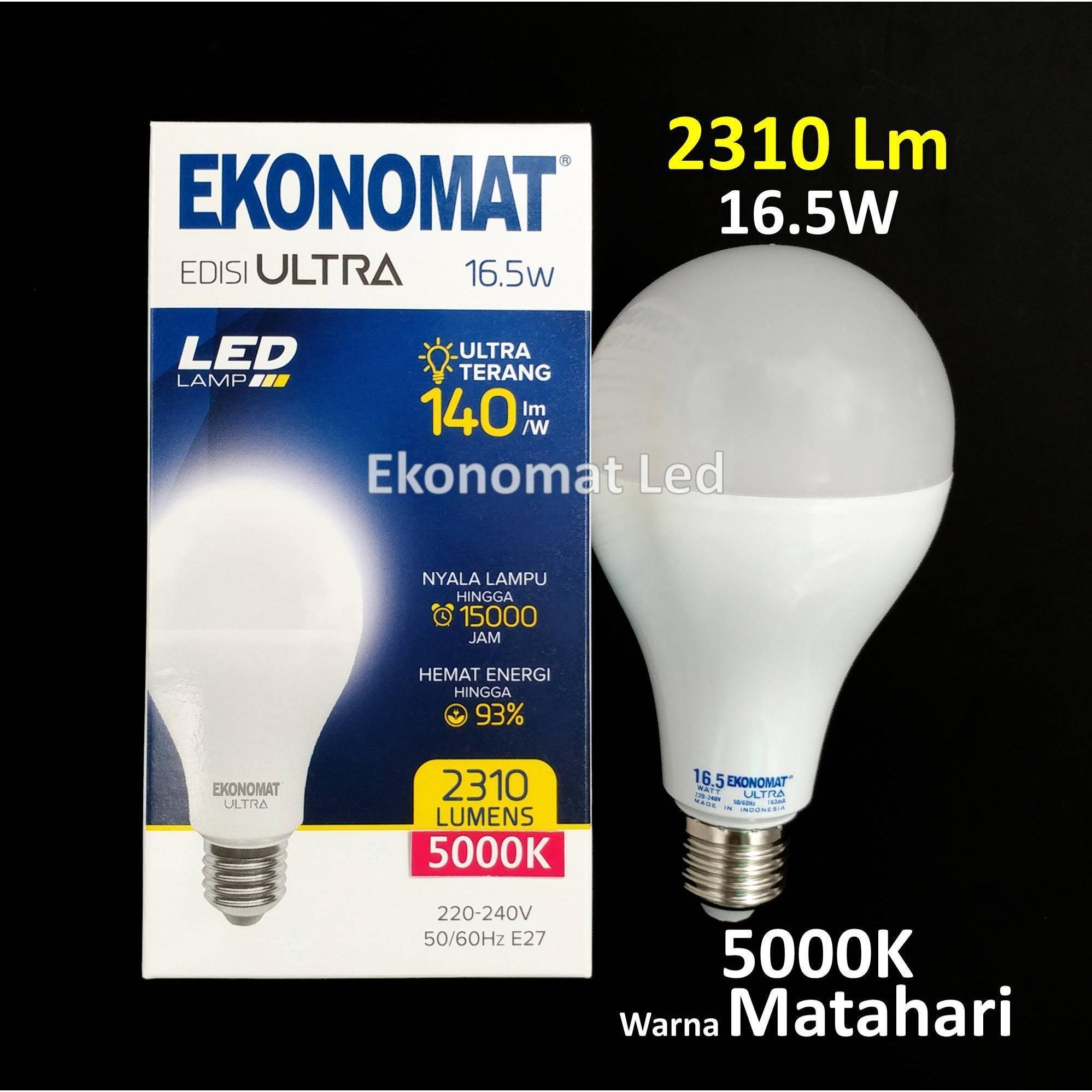 Lampu LED Bohlam Ekonomat ULTRA 2310 Lm 16,5W 5000K Warna Matahari 16,5 Watt [Matahari]