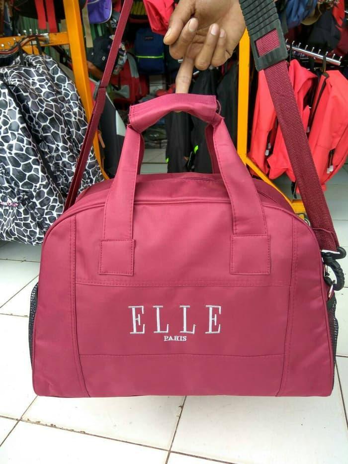 TERLARIS!!! Tas Baju Kosmetik Perempuan/Cewe Travel Backpack Elle Grosir Slempang -
