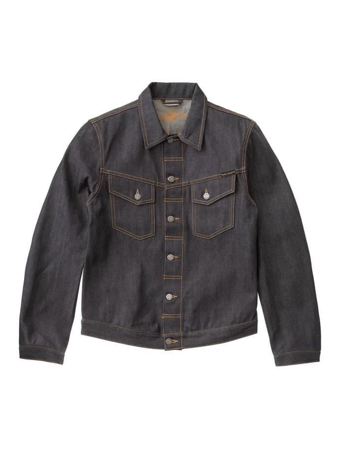 TERLARIS  Nudie Jeans Kenny Dry Orange Selvage Denim Jacket