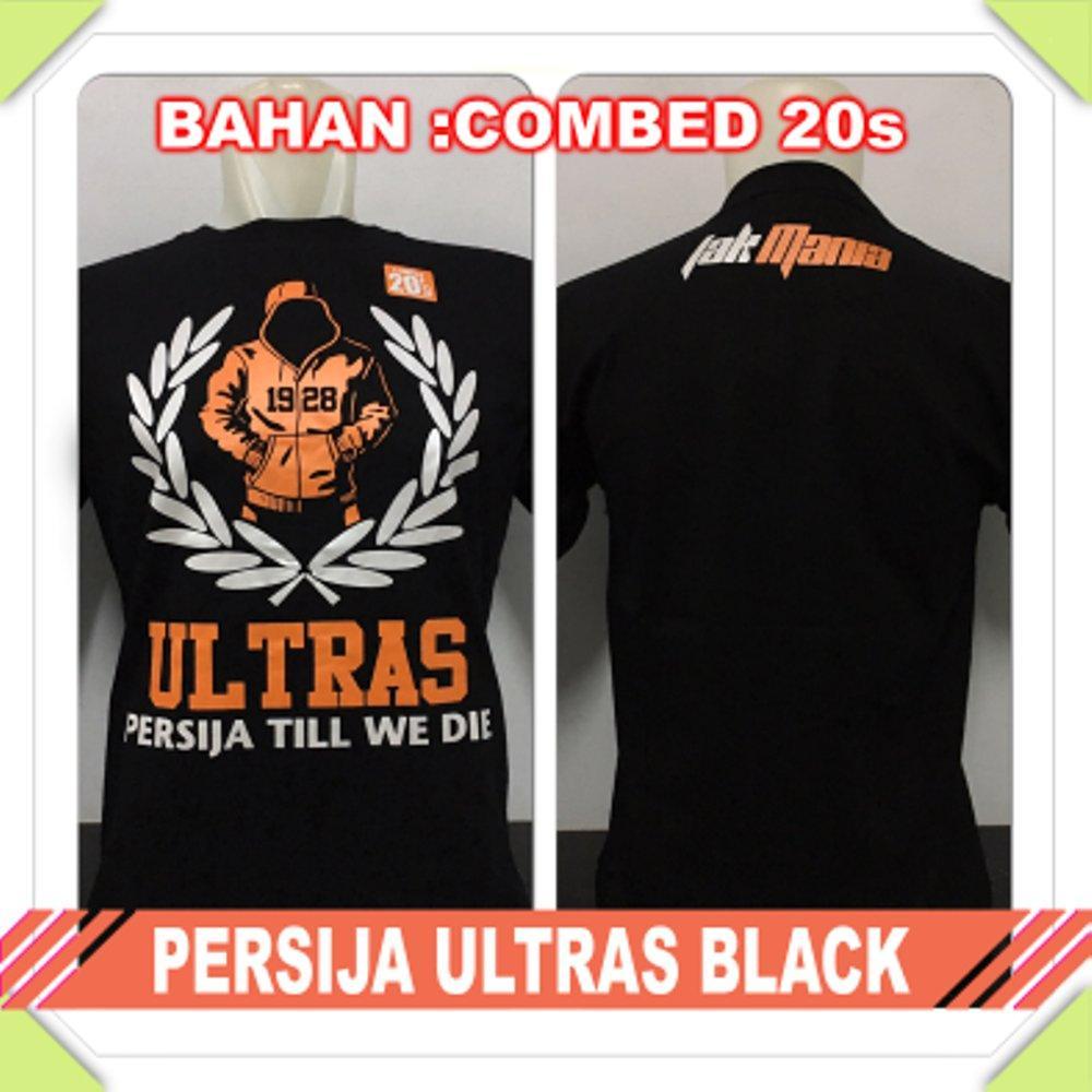 kaos persija Jakarta ultras the jak mania combed hitam baju distro t shirt grosir murah di lapak Zuperone mart superone