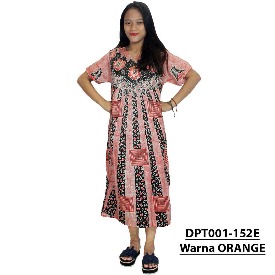 Daster Batik, Daster Lengan Pendek, Baju Tidur, Piyama, Kancing, Daster Bumil, Daster Busui (DPT001-152) Batik Alhadi