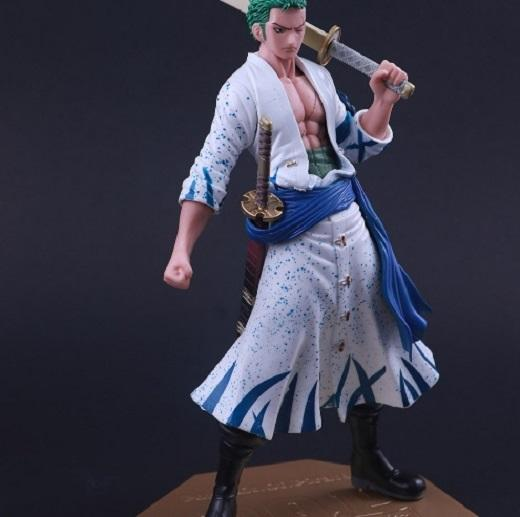 Action Figure P.O.P One Piece Excellent Model Roronoa Zoro White Coat