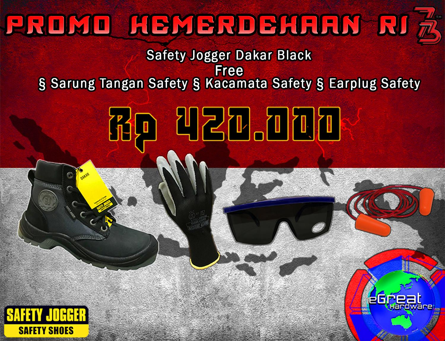 Promo Paket Safety Shoes Dakar Black Safety Jogger