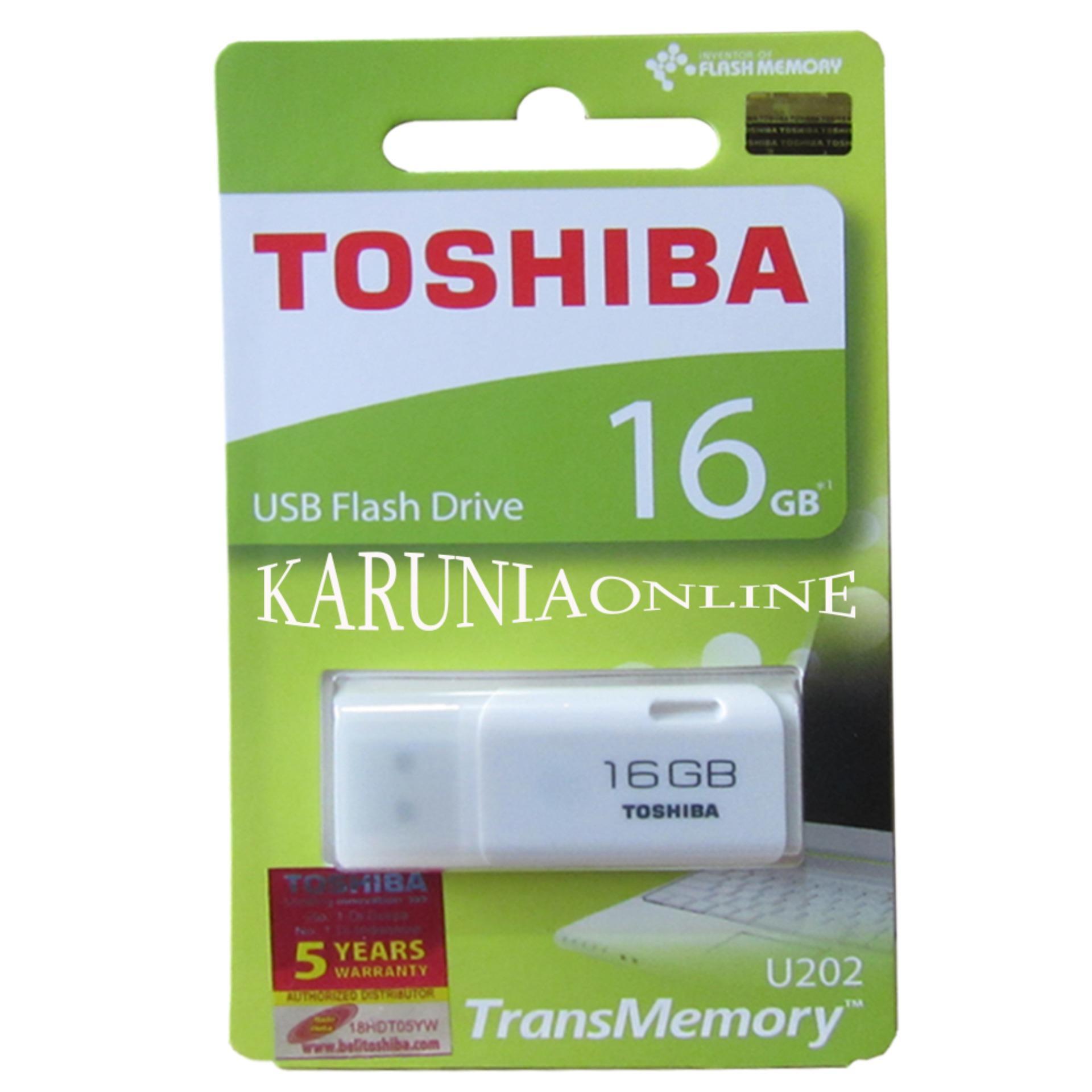 TOSHIBA FLASHDISK HAYABUSA 16GB - Putih