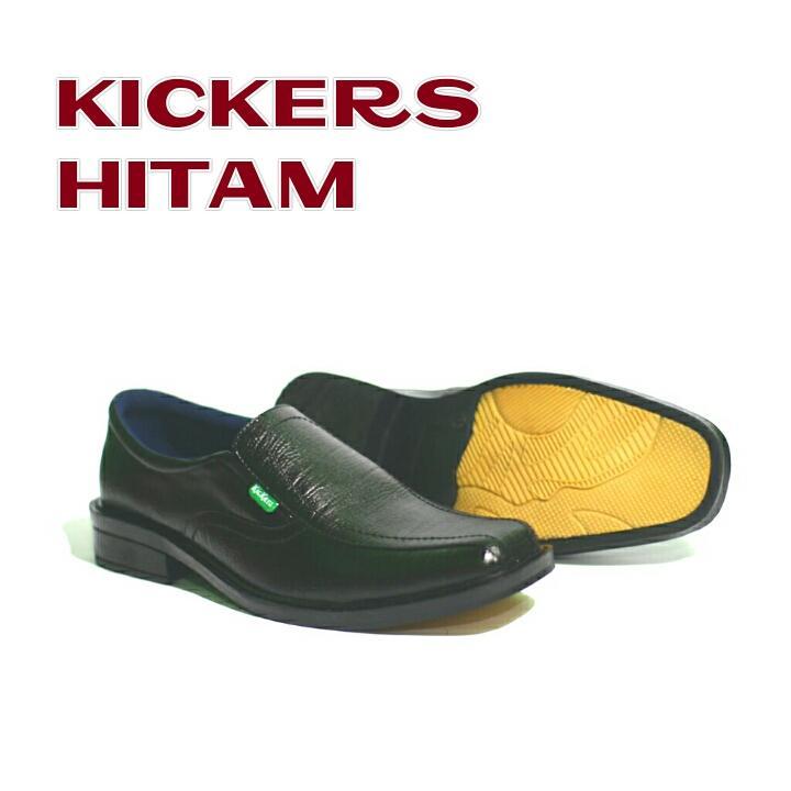 Kickers - Sepatu Pria Pantofel Pria Kickers Untuk Kerja Formal Resmi Pesta Sekolah Bahan Kulit Sapi Asli 100%