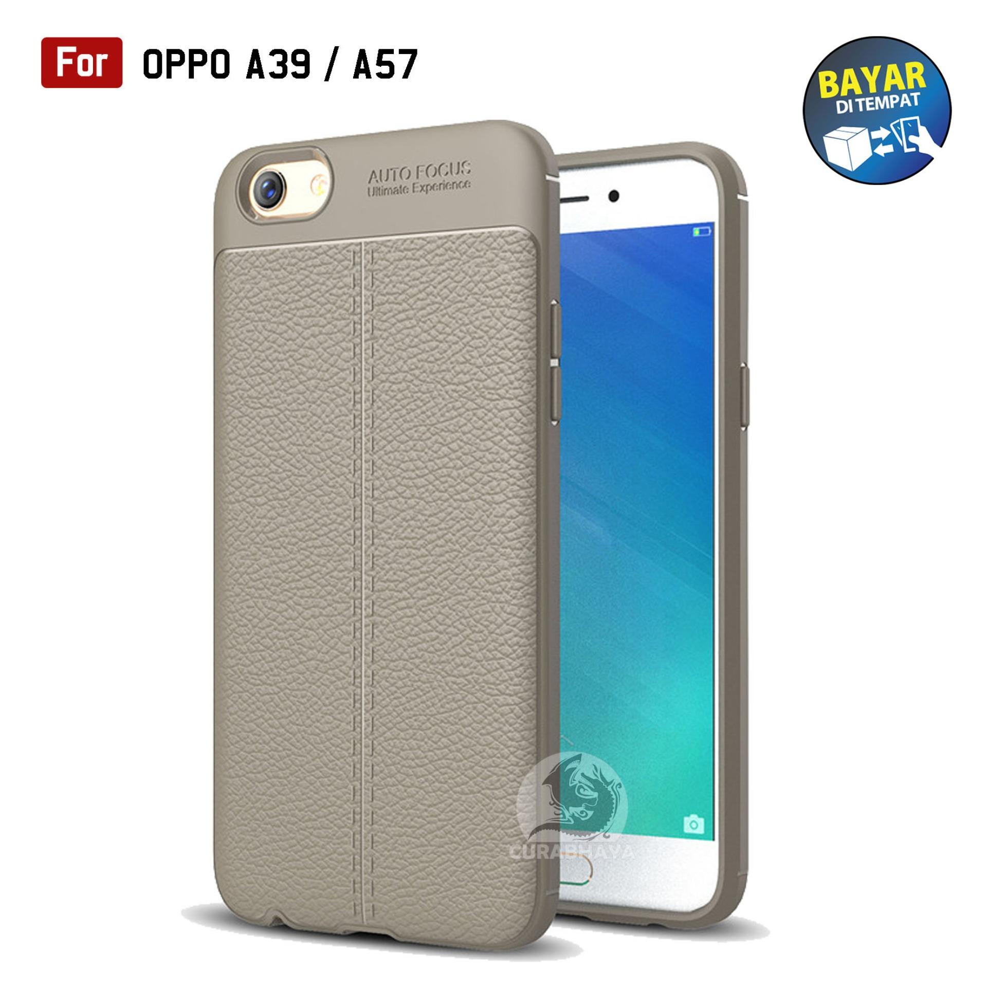 AutoCase Oppo A39 / A57 | Ultimate AutoFocus Leather 3D Case Protect Motif Kulit Jeruk