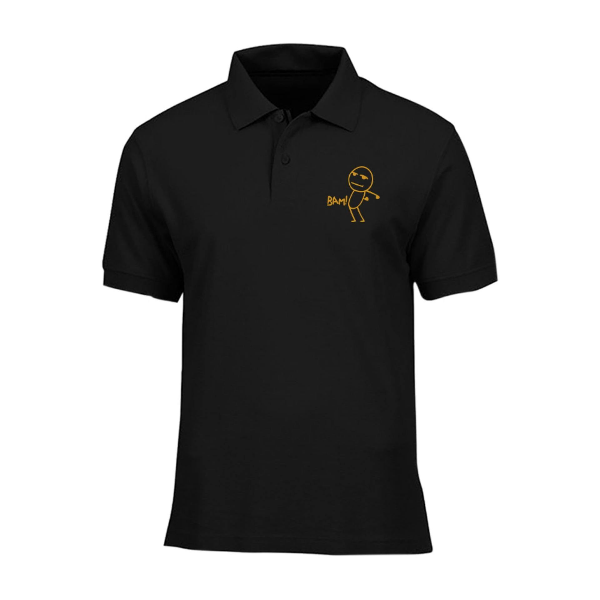 IndoClothing Polo Shirt BAM ! - Hitam Gold