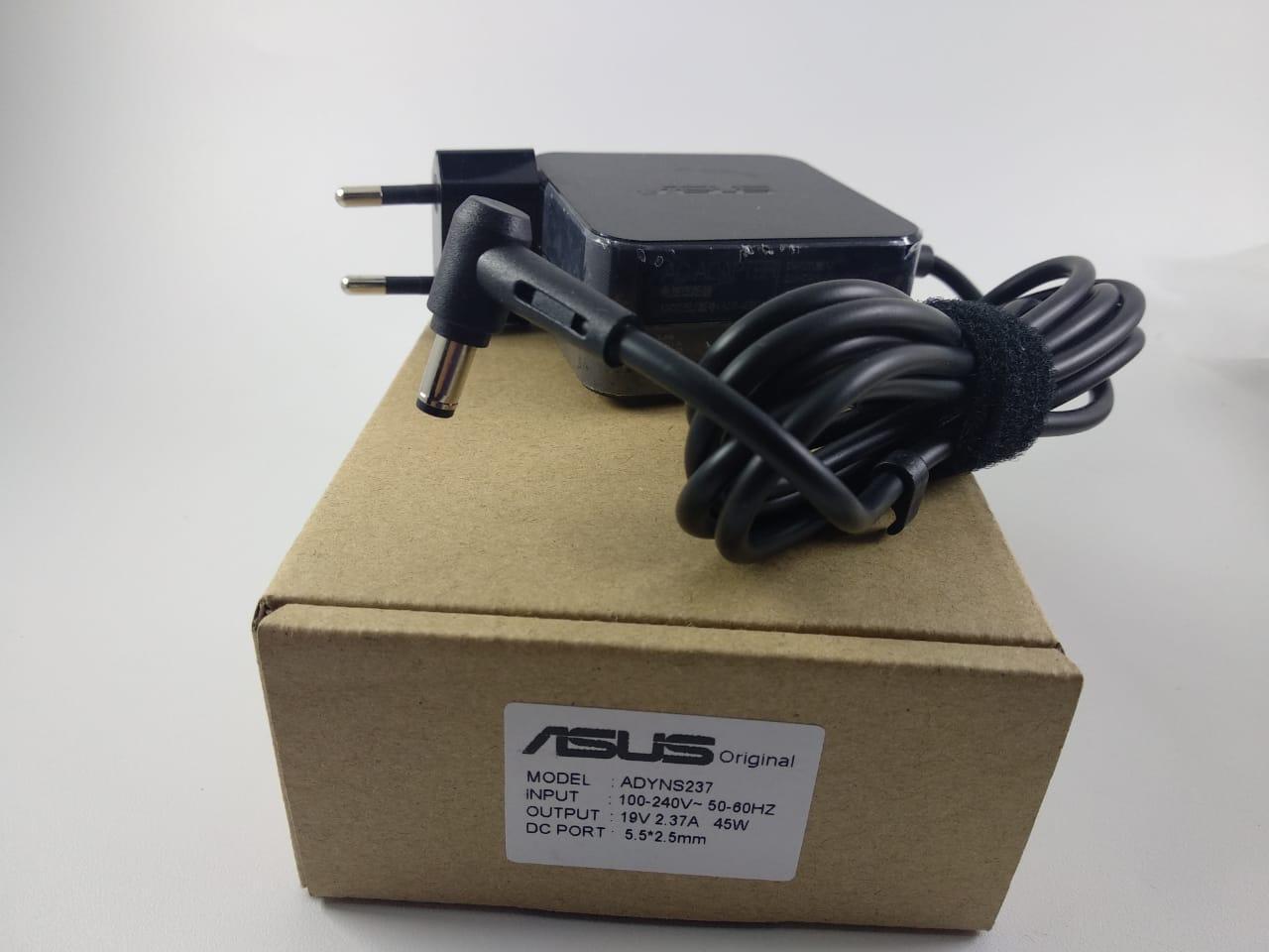 ASUS ORI Adaptor Charger Laptop ASUS 19V 2.37A / 5.5*2.5mm PETAK KOTAK 0101KLF, ADP-45BW 45W for Asus ASUS X451CA ASUS X450JN X551 X551C X551CA X551M X551MA X551MAV X750LA X501LA D550CA Series