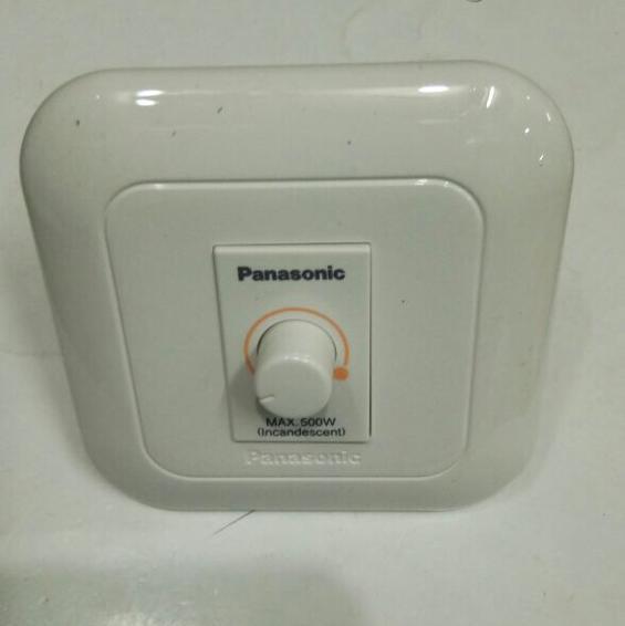 Saklar Dimmer / Dimer Kecil Inbow Putih Merk Panasonic Daya 500 Watt