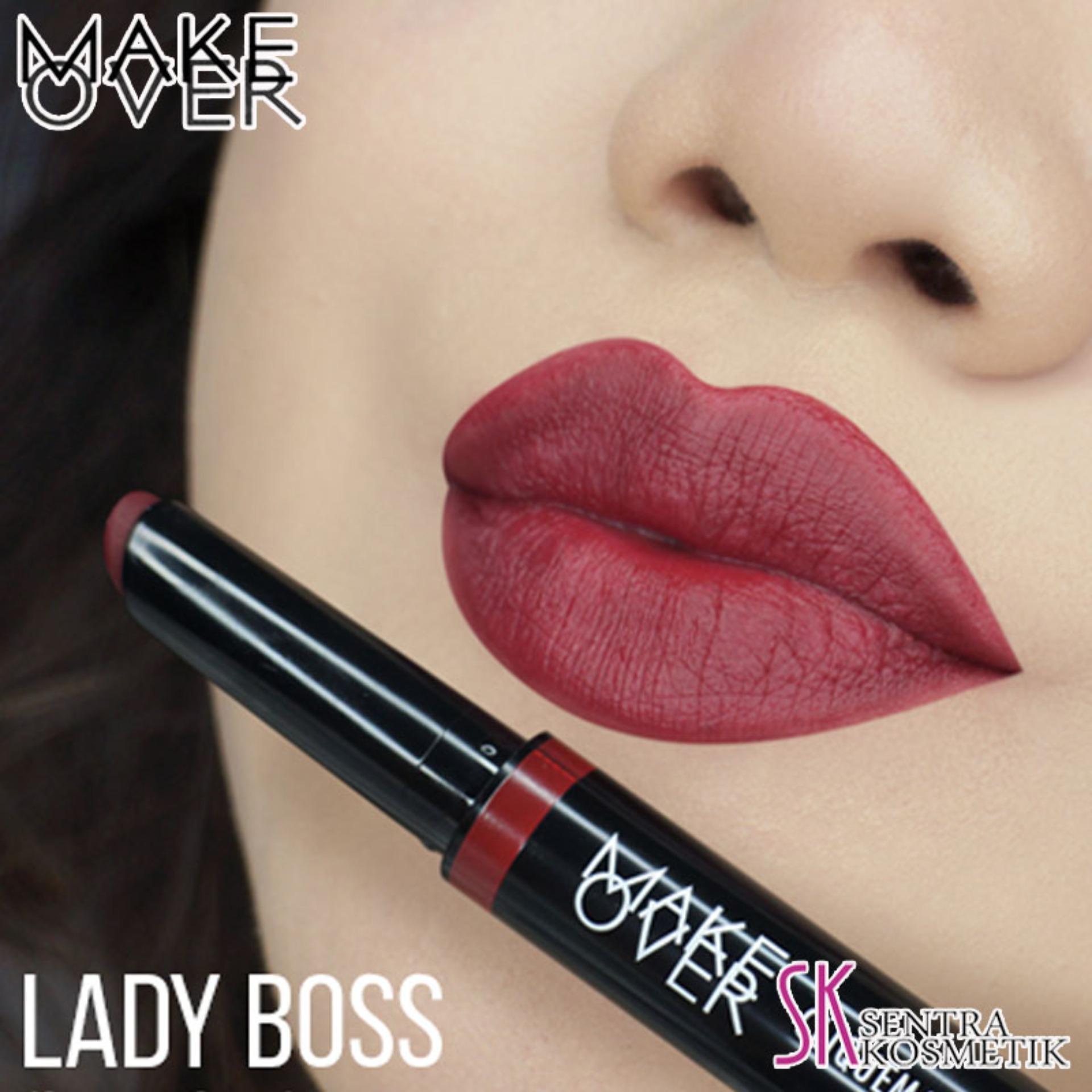 Jual Lipstik Make Over Terbaik Makeover Intense Matte Lip Cream Lipstick Cliquematte Stylo 207 Ladyboss
