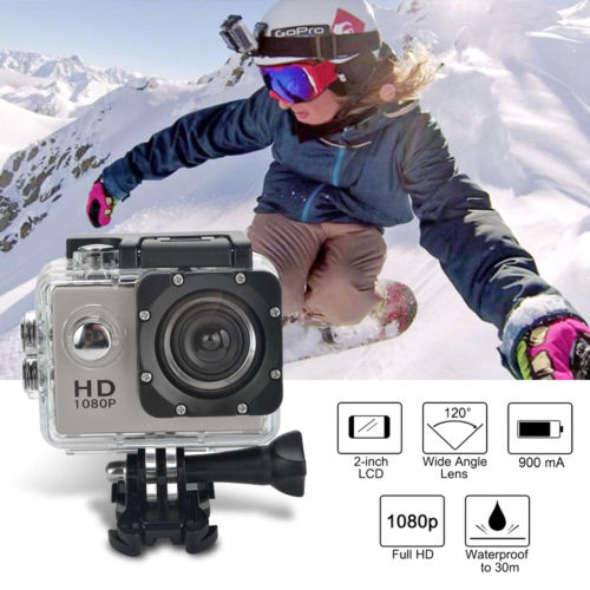 Sports Cam Action Camera Sport 1080P  Full HD DV No-WiFi - Silver