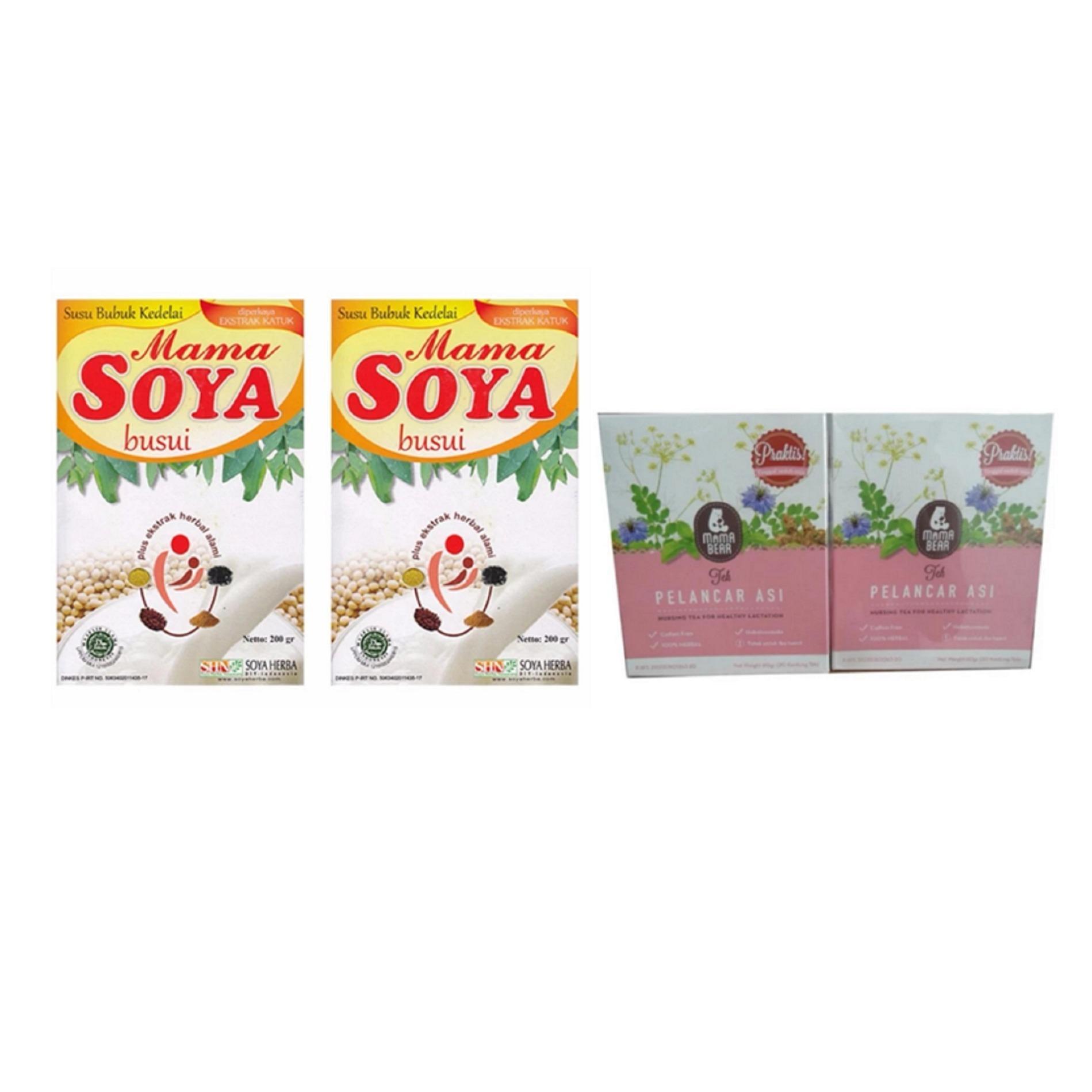 Mama Booster Tea Pelancar Asi 1 Pcs Kantong Gabag New Born 100 Mamabear Soya Coklat 200 Gram 5 Kotak Milk Daftar Harga Source Bear