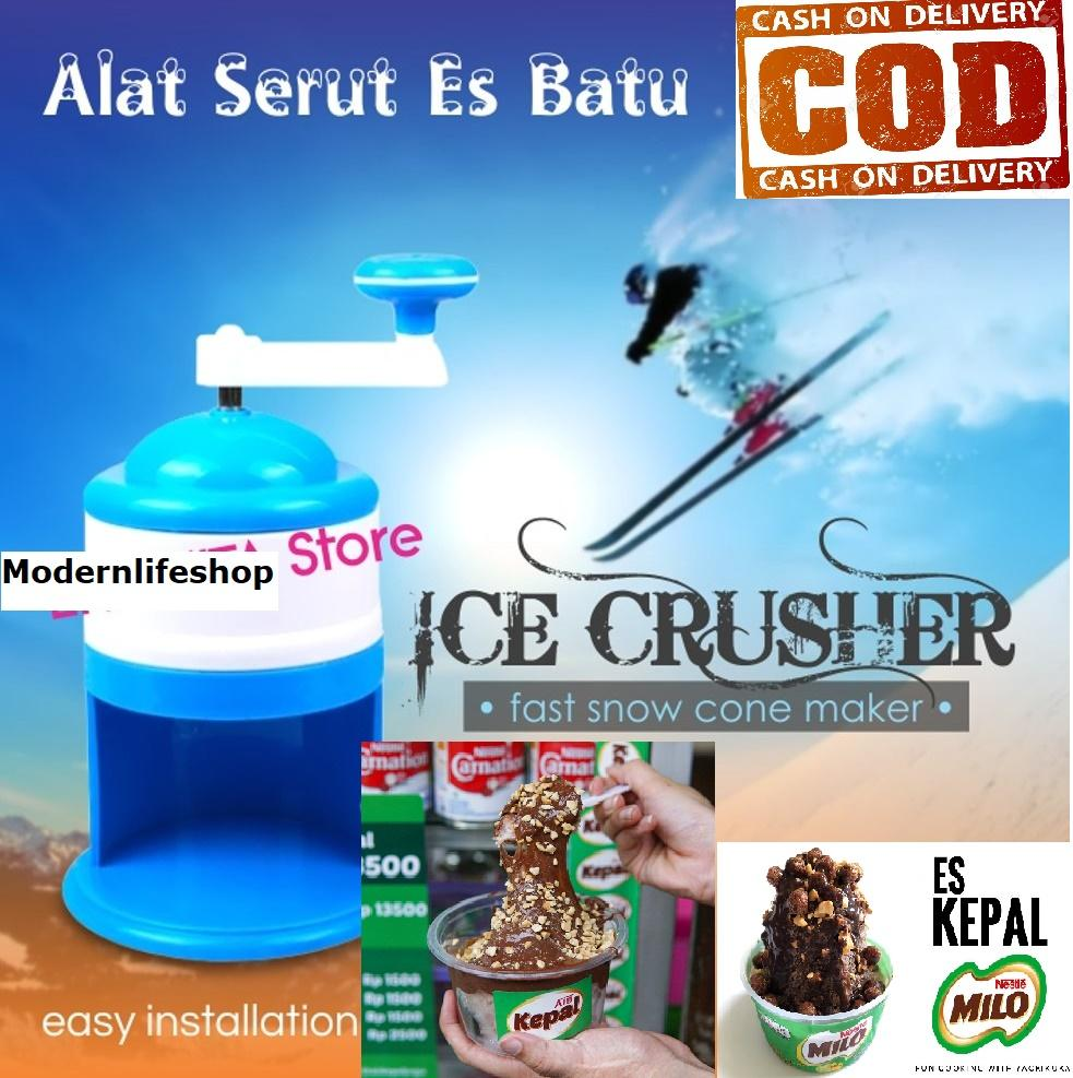 Blueidea Alat Mesin Serutan ES KEPAL MILO Es Batu Portable ICE CRUSHER / ICE SHAVER / MESIN SERUT ES PORTABLE KECIL PRAKTIS manual
