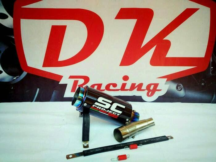 Knalpot Racing Kawasaki Versys 250 Slip On Sc Carbon Series By Dk Racing Bekasi.