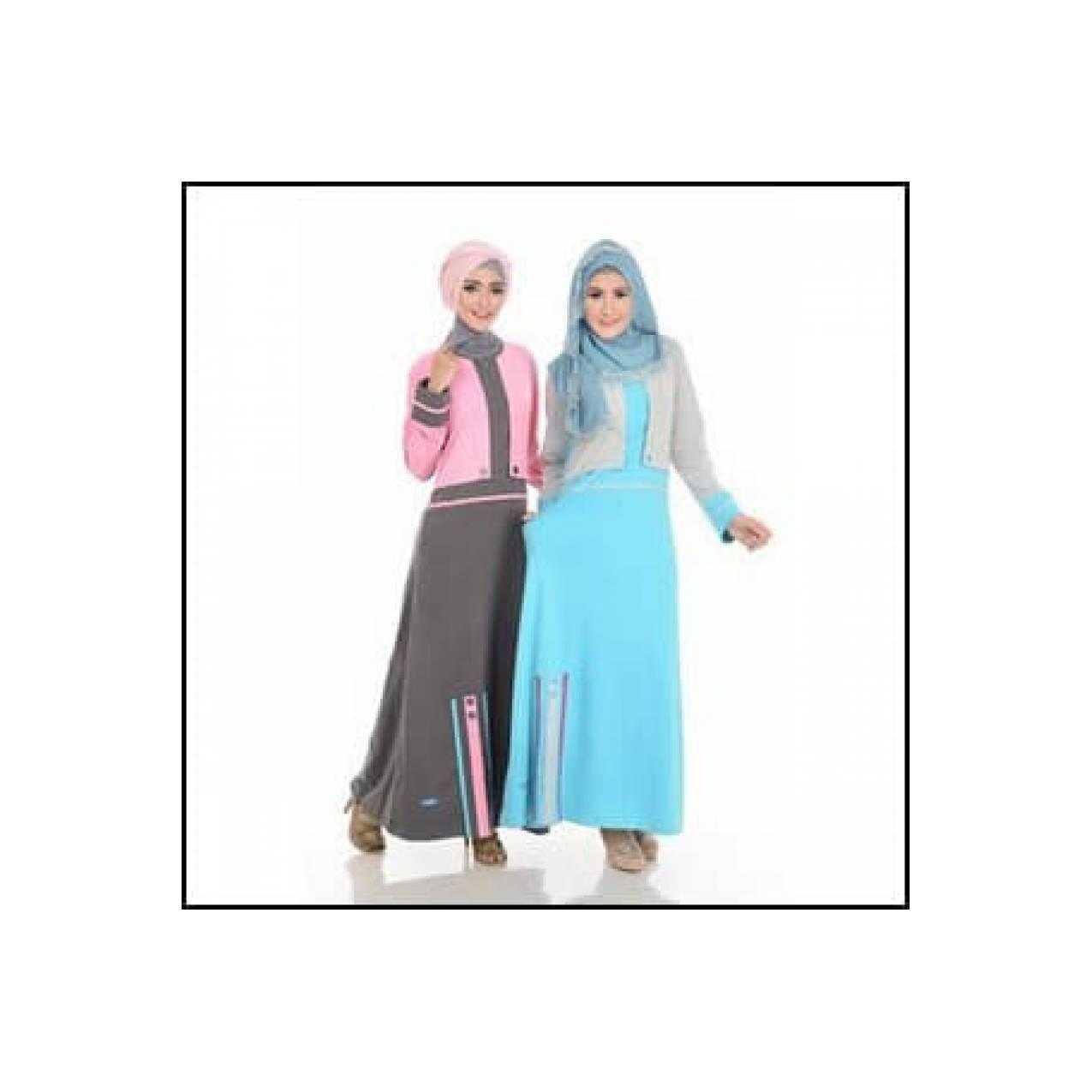 Best Seller Gamis Fantasi Bolero Bahan CVC 18s, Model Vest Mix 2 Color