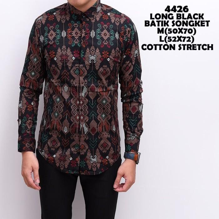 the most Kemeja Panjang Batik Songket Kerja KOndangan Pria casual Formal atasan cowok fashion terbaru termurah terlaris beli baju kaos oblong distro bandung
