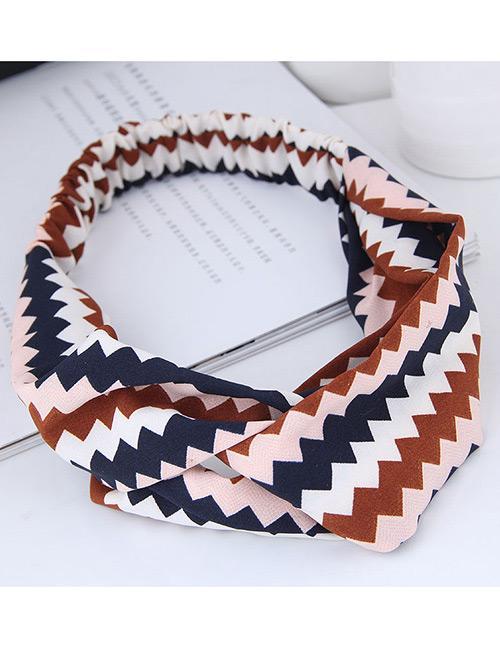 LRC Bando Fashion Sawtooth Pattern Decorated Hairband