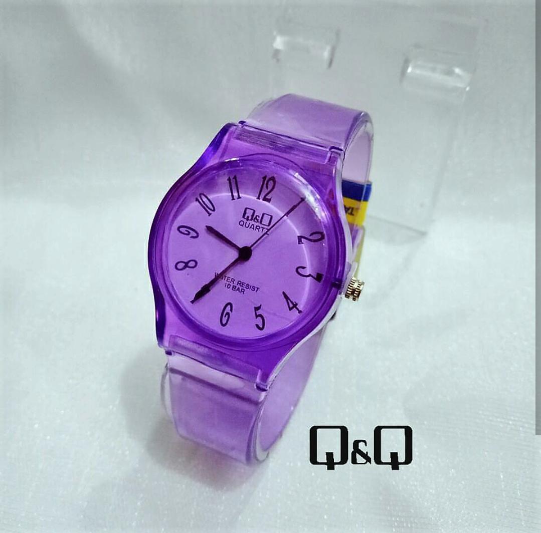 QQ - Jam Tangan Wanita Anak Perempuan Jam Tangan QnQ Transparan Water  Resistant Model Terbaru d811d69cbe